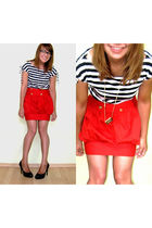 red Atmosphere skirt - black
