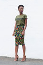Army-mr-price-t-shirt-tribal-pencil-mr-price-skirt