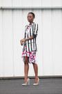 Peter-pilotto-target-dress-stripe-zara-blazer-checkered-qupid-pumps