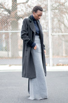 cashmere Uniqlo sweater - Luxury Rebel boots - wool liz claiborne coat
