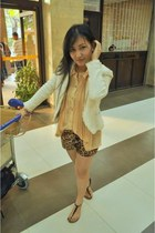 bronze Chiccat shorts - Vertigo blazer - Celine flats - Chiccat accessories
