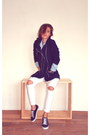 Navy-cotton-promod-coat-white-ripped-tally-weijl-jeans