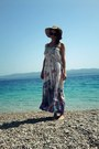 Maxi-dress-summer-hat