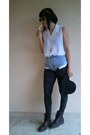 Crimson-dr-martens-boots-black-h-m-hat-charcoal-gray-new-yorker-leggings