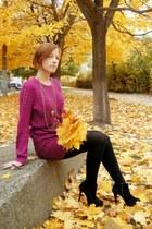 magenta diy CC petite jumper - magenta Miso skirt