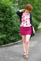black George cardigan - magenta Miso skirt - black Graceland sandals
