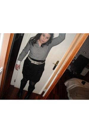 Clarks boots - Pepe Jeans shirt - Shana belt - asos skirt