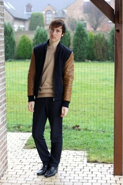 tawny H&M jacket - black H&M boots - camel 3Suisses jumper