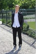silver Topman boots - black Tipster jacket - white Topman shirt - black Topman p