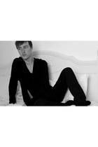 black Zara jeans - black asos jumper