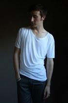 charcoal gray Zara jeans - white asos t-shirt