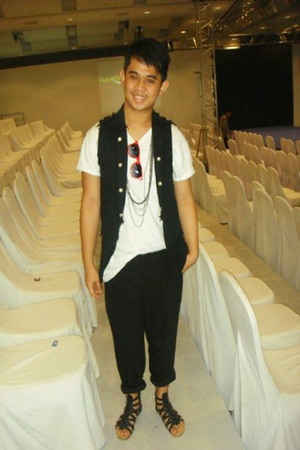 Zara shirt - Freeway vest - Thrift Store pants - shoes - accessories - ILY sungl