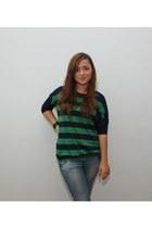 pull&bear blouse - Zara jeans - Accessorize bracelet