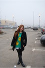 Aquamarine-chicwish-sweater-black-decathlon-boots-black-mango-coat