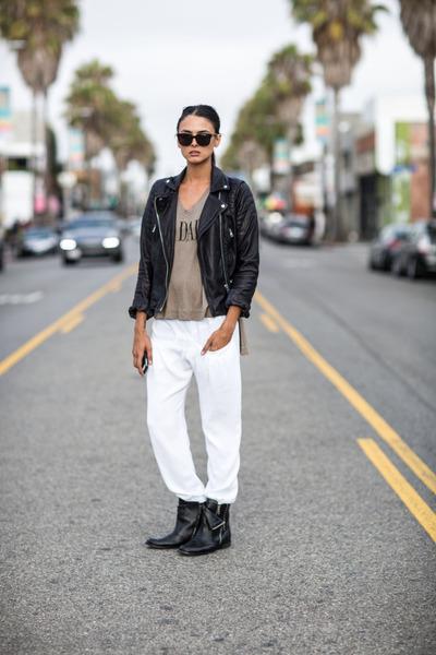 Mango jacket - H&M sunglasses - Zara pants