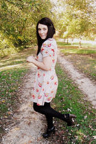 gray Urban Outfitters dress - black Forever21 shoes - black Target stockings