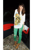 Bershka jeans - Zara t-shirt - Zara boots - too late - watch accessories
