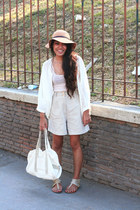 off white Cole Vintage sandals - brown Topshop hat