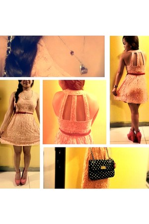Sirens dress - Top Shop bag - Forever 21 wedges