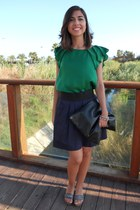 Zara blouse - handmade bag - Zara skirt - pittarello wedges