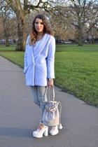 Choies coat - Topshop jeans - River Island heels