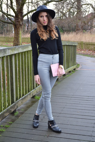 Topshop jeans - Zara boots - whistles hat