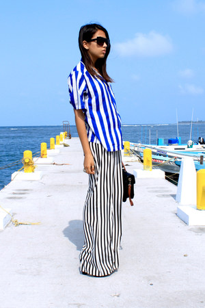black stripes Zara pants
