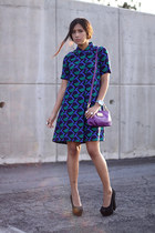 068bca729a370 ... black neon Zara boots · deep purple Marc by Marc Jacobs dress