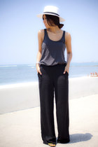 black LOB pants - dark gray Zara t-shirt