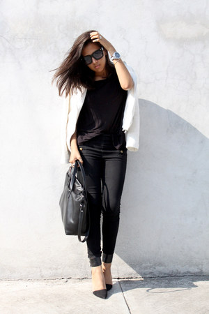 Zara bag - Pull & Bear jacket - Zara pants - Zara heels - Oysho t-shirt