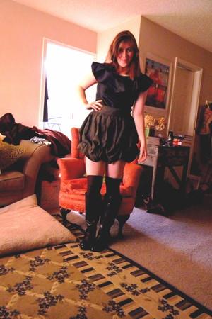 Bandolino boots - Forever 21 skirt - blouse