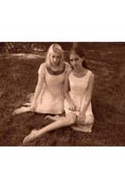 light pink Topshop dress - white Forever 21 dress