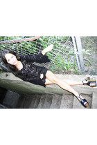 european lace Gina Marie Vintage dress - Jessica Simpson heels