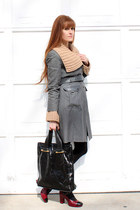 Marc by Marc Jacobs shoes - cynthia steffe coat - vintage sweater - Devi Kroell