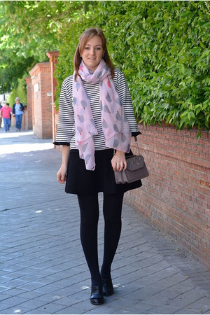 black Emm-shu shoes - white dresslily sweater - light purple Primark bag