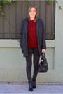 Black-adela-gil-boots-charcoal-gray-suiteblanco-coat