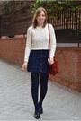Black-vogue-lv-shoes-black-mango-coat-off-white-stradivarius-sweater