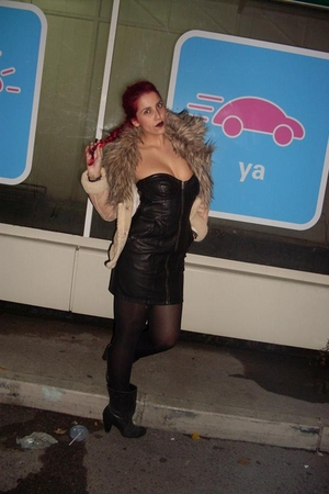 beige BLANCO jacket - black H&M dress - black H&M panties - black Primark boots