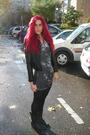 Black-zara-jacket-gray-h-m-dress-black-h-m-panties-black-allsaints-boots