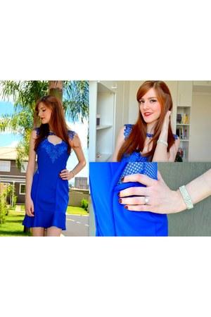 blue Lojas Thithãs dress