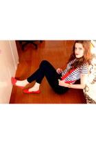 stripes Zara t-shirt - jeans Tally Weijl pants
