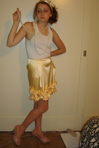 my ribbon accessories - American Apparel top - Forever21 accessories - skirt - B