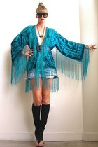 velvet fringe Girl On A Vine jacket