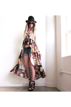 tan fish tail hem Girl On A Vine dress