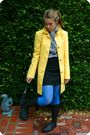 Yellow-my-moms-jacket-gray-forever-21-blouse-black-h-m-skirt-black-tj-maxx
