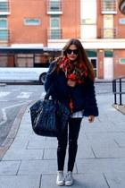 Zara jacket - YSL bag - Converse sneakers