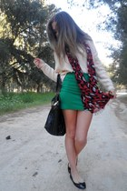 YSL bag - Zara skirt - H&M jumper - YSL ring