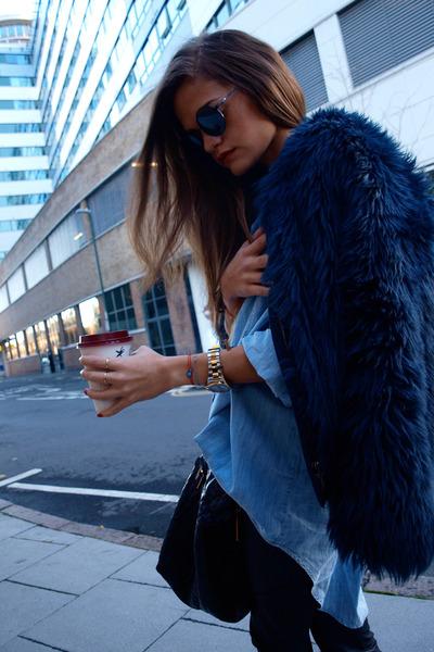 Zara jeans - Zara shirt - YSL bag - firmoo sunglasses - Chanel flats