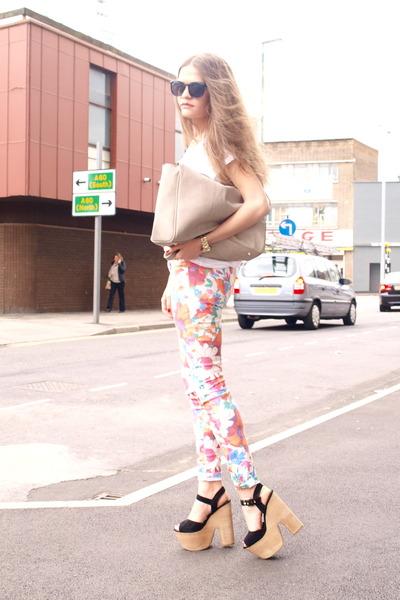 Topshop wedges - Zara jeans