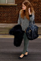 Topshop jumper - Yves Saint Laurent bag